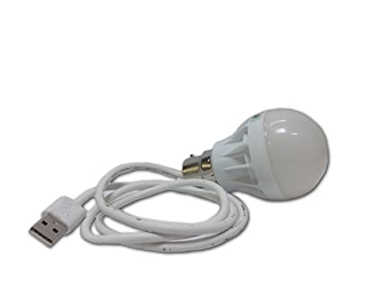 Belifal 6Watts Super Bright USB LED Bulb With Super Strong 5Ft Long Thick  Wire Made In India