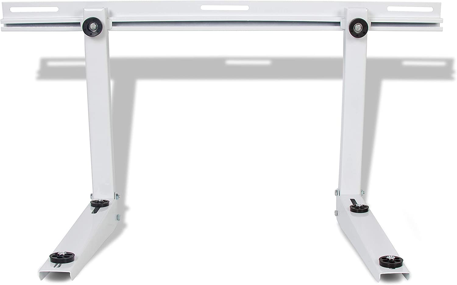 ECOTRIC Universal Outdoor Wall Mounting Bracket Steel for Mini Split Air Conditioners Heat Pump Systems Ductless AC