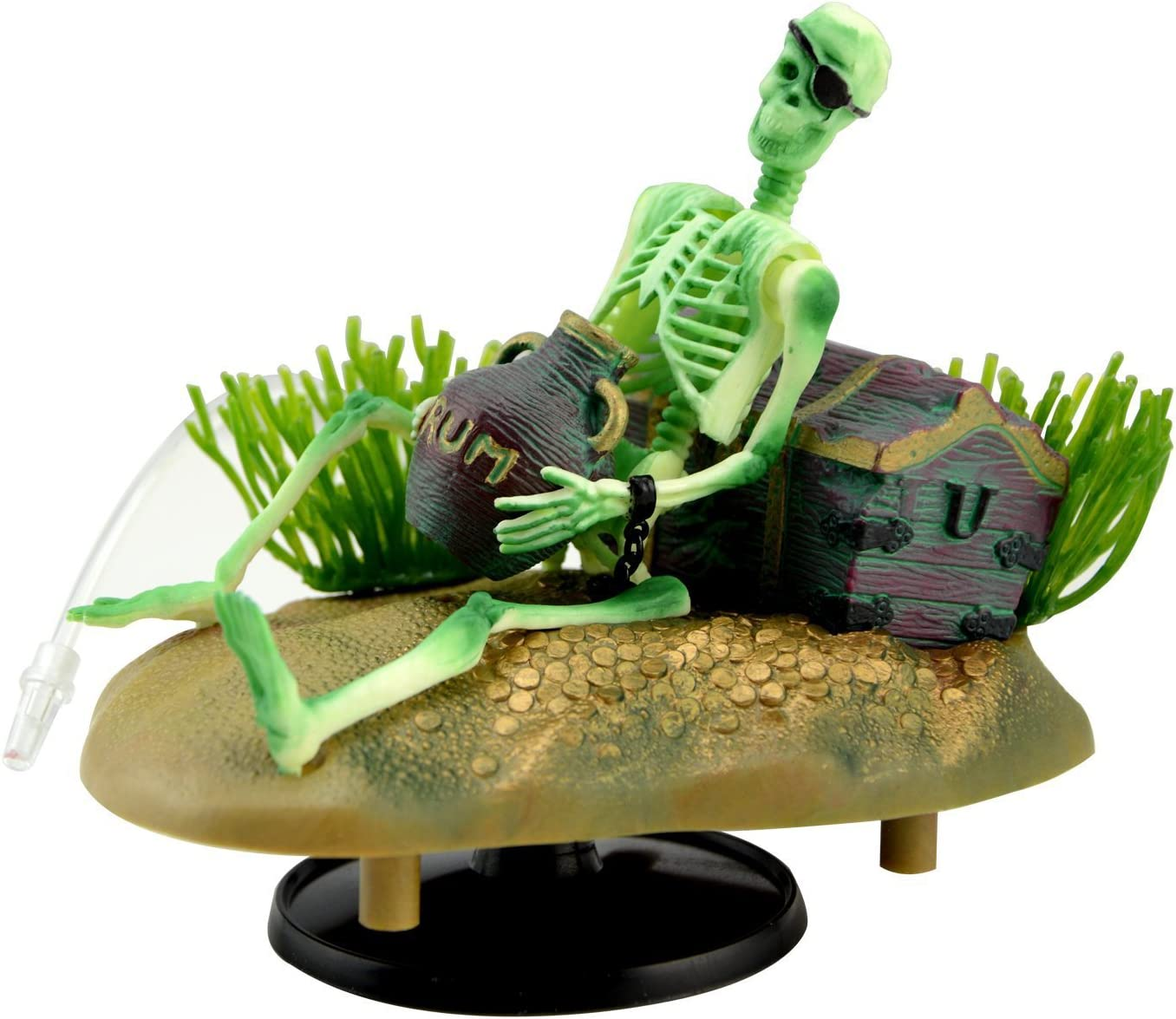 Saim Drunken Pirate Skeletons Live Action Aquarium Ornaments w/Bonus