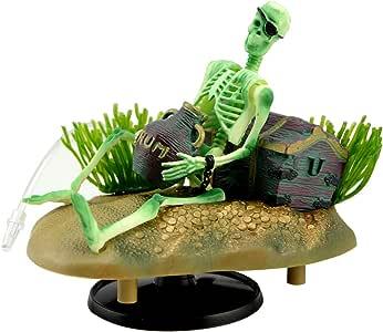 Saim Drunken Pirate Skeletons Live Action Aquarium Ornaments w/Bonus