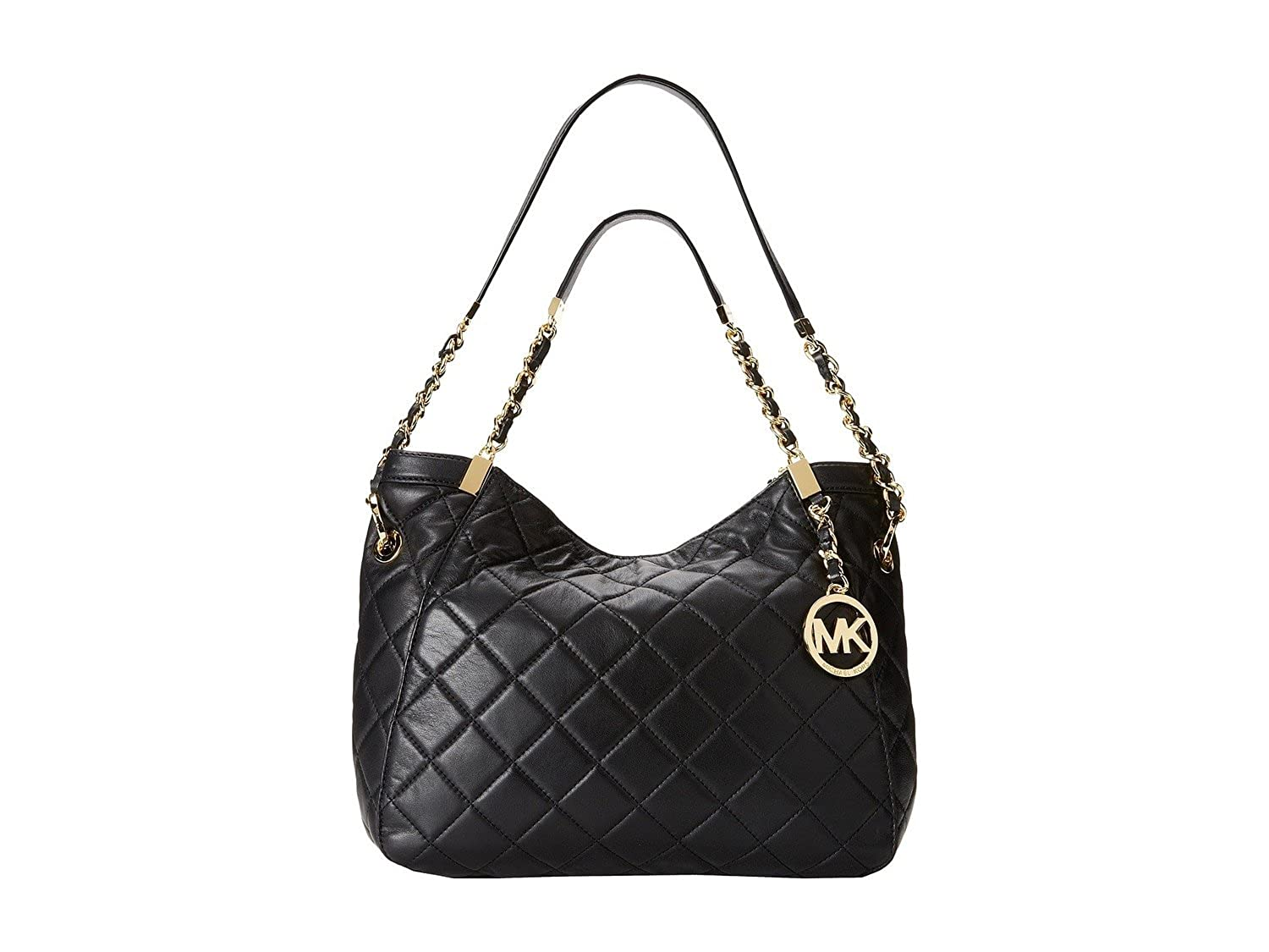 eafbe2a0c724 Amazon.com: MICHAEL Michael Kors Women's Susannah Medium Shoulder Tote Black:  Shoes