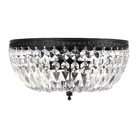 chandelier living led room de flush for square light lustres cristal mount crystal youlaike luxury item