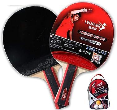 Juego De Bate De Raqueta De Tenis De Mesa, 2 Jugadores, Juego De Paleta De Ping Pong, Paleta De Ping-pong Con 2 Palos Para La Actividad Familiar, Escuela (apretones De Manos): Amazon.es: