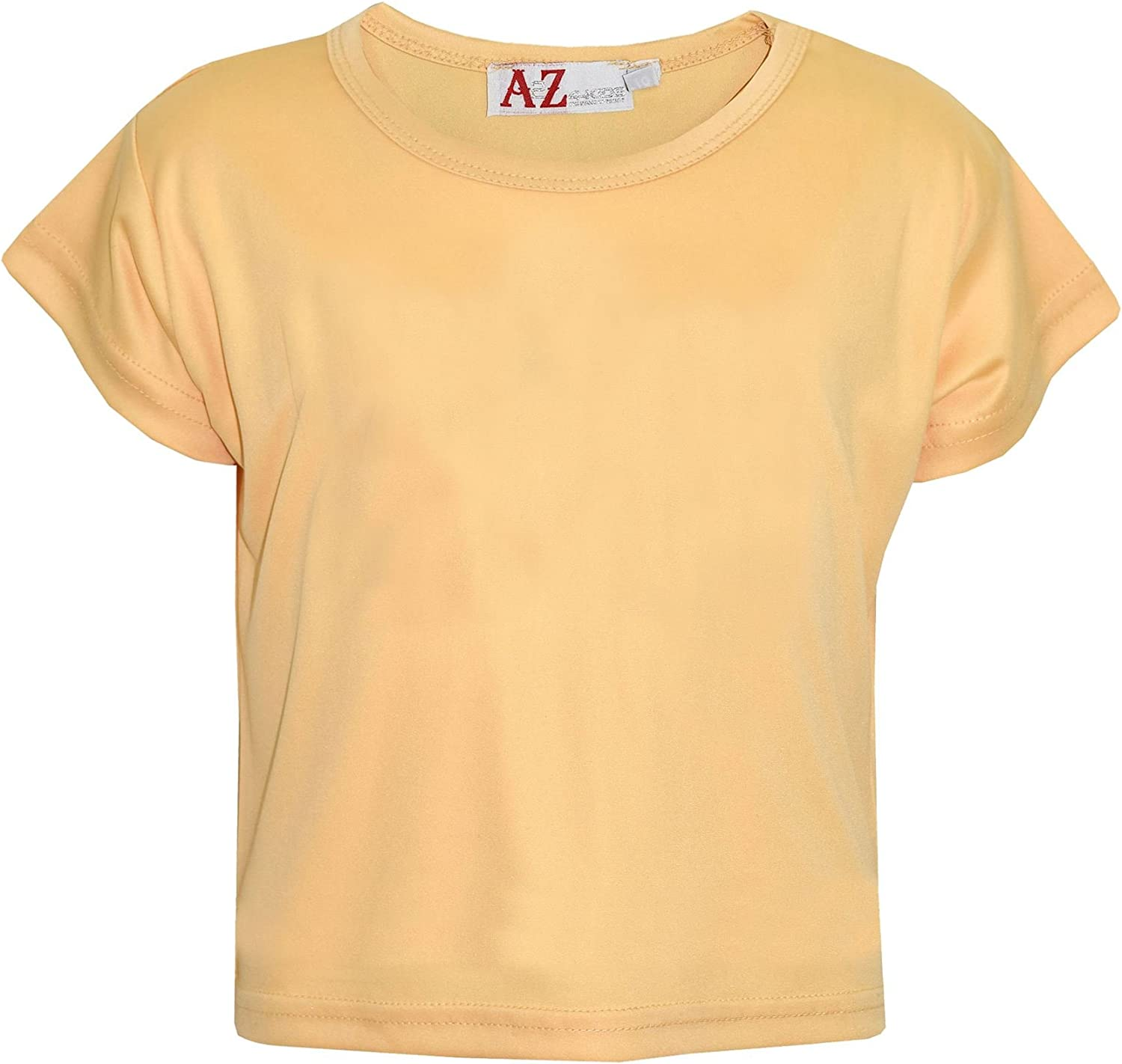 A2Z 4 Kids/® Girls Top Kids Plain Color Stylish Fahsion Trendy T Shirt Crop Top New Age 5 6 7 8 9 10 11 12 13 Years