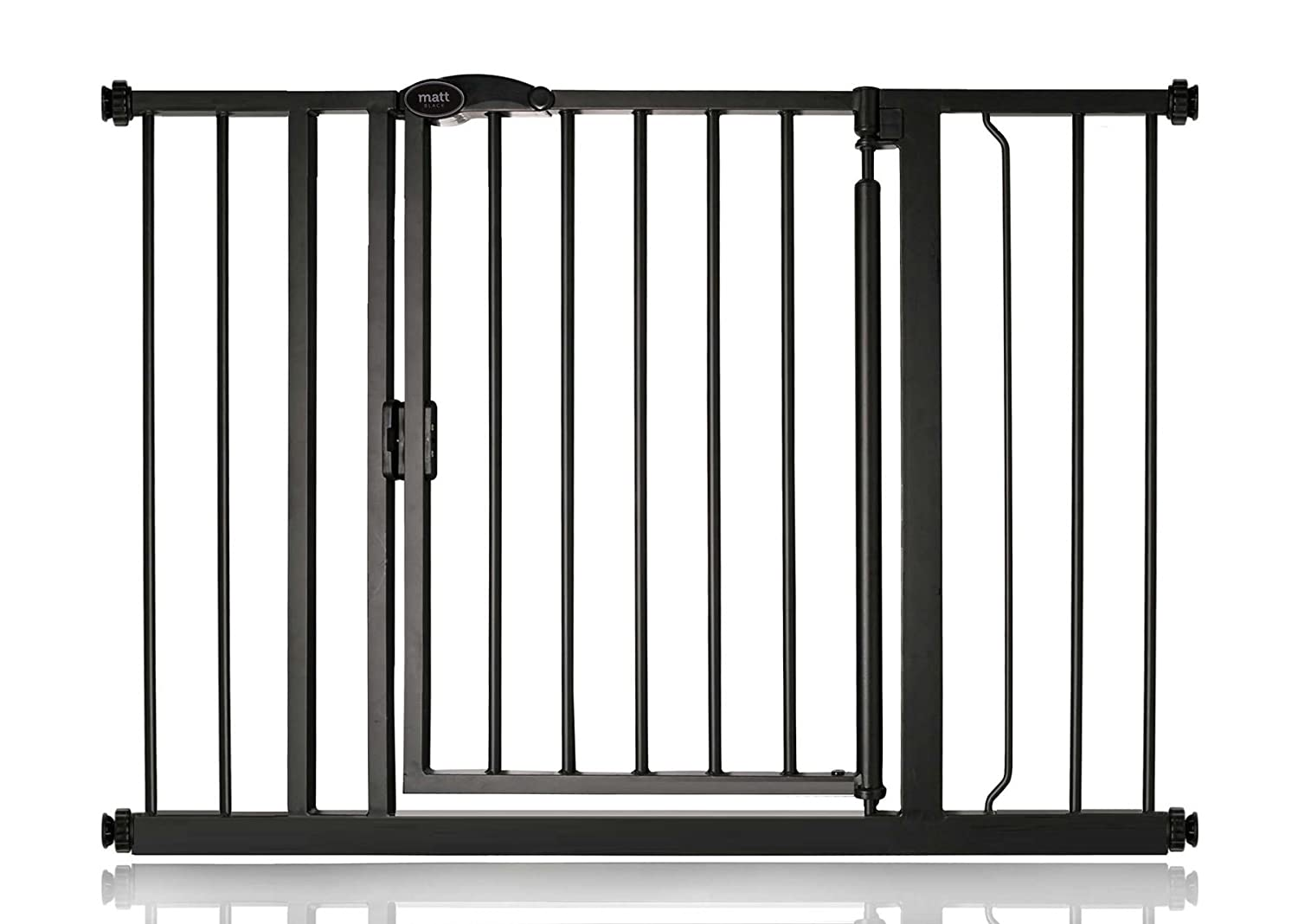 103.8cm110.8cm Bettacare Auto Close Matt Black Pet Gate Range (103.8cm110.8cm)
