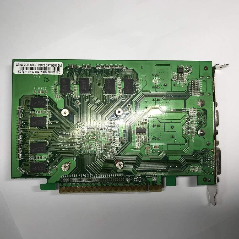 GeForce GT 240 2 GB DDR2 PCI Express 2.0 DVI//HDMI//VGA Graphics Card for Microsoft DirectX 10.1// SM4.1 Windows 10//7//8//XP... 2048 MB New !!