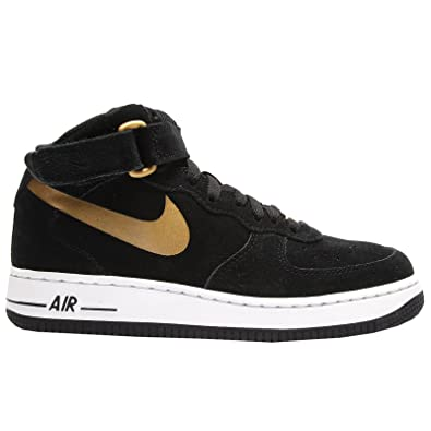 super popular 2de31 beb9a Nike Air Force 1 Mid (GS) Schuhe black-metallic gold-white - 39  Amazon.co.uk Shoes  Bags