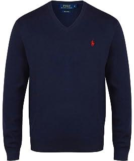 938a52335 Ralph Lauren Polo Men s Pima Cotton V-Neck Jumper S - XXL  Amazon.co ...