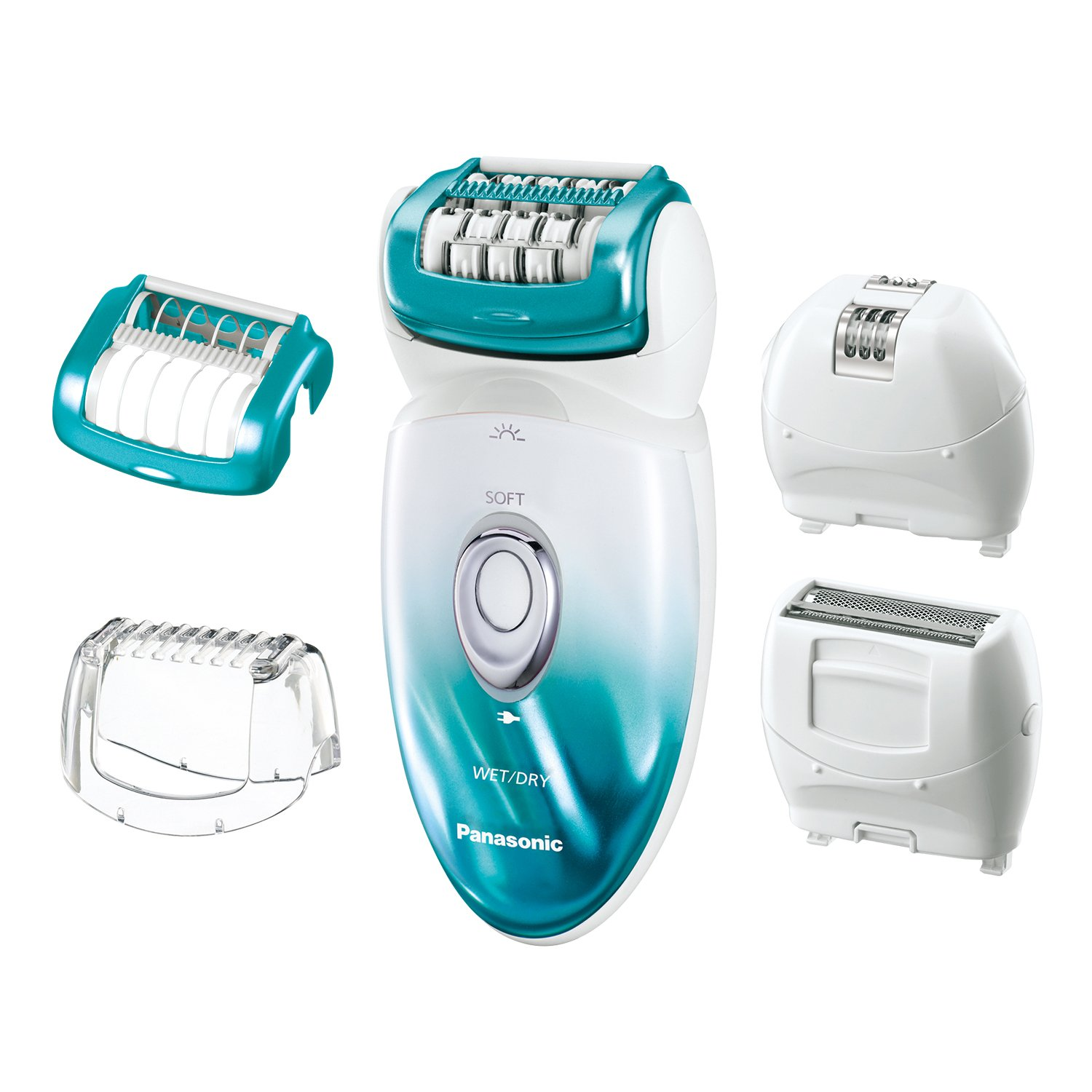 Panasonic ES-ED70-G Multi-Functional Wet/Dry Shaver and Epilator for Women, with Five Hair Removal Attachments and Travel Pouch by Panasonic