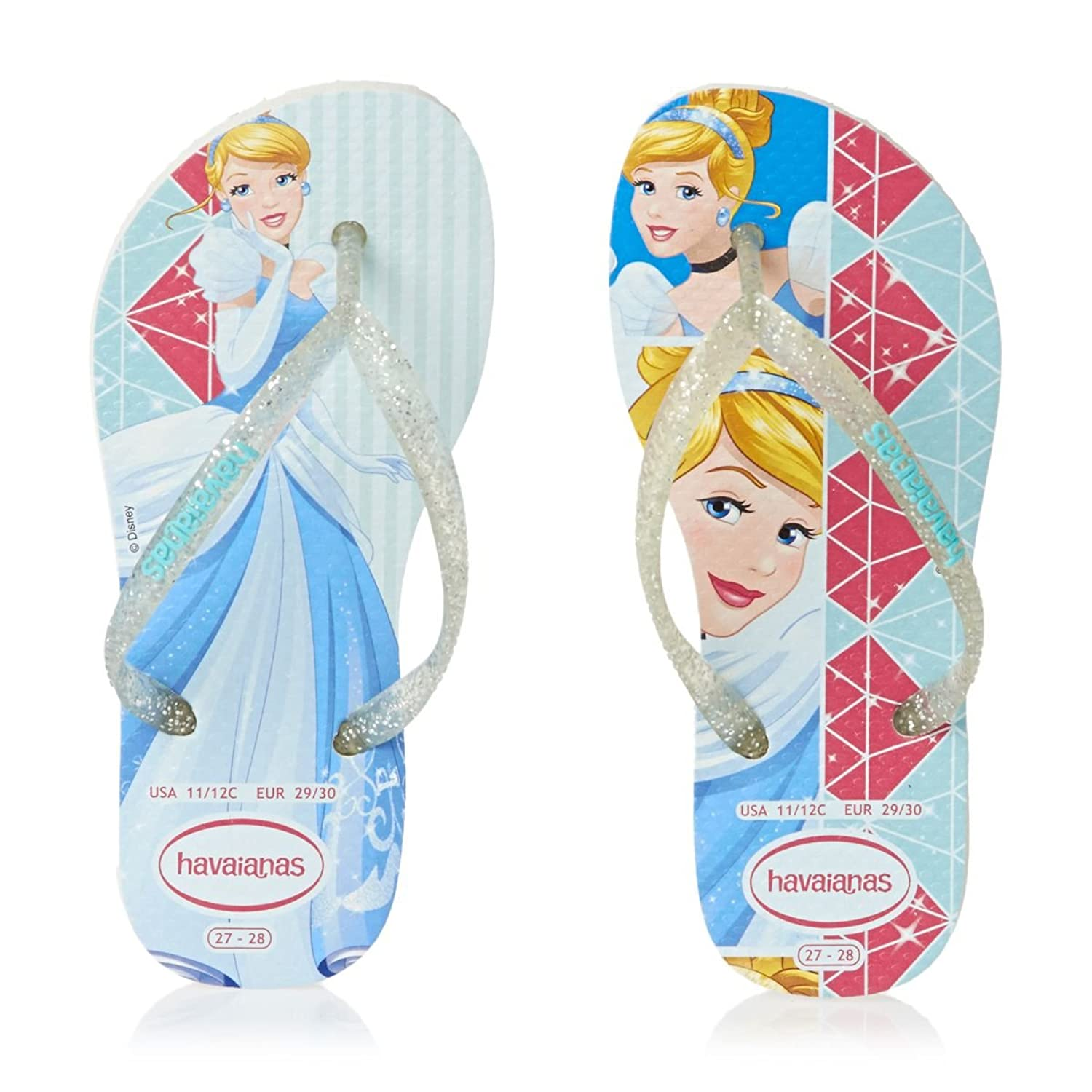 Havaianas Kids Slim Princess White/White Flip Flop 23/24: Amazon.ca: Shoes  & Handbags