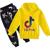 TIK Tok Hoodie Summer Fashion Hoodie Cool Pullover Sudadera De Manga Larga para Niños Y Niñas TIK Tok Hoodie Set 100cm