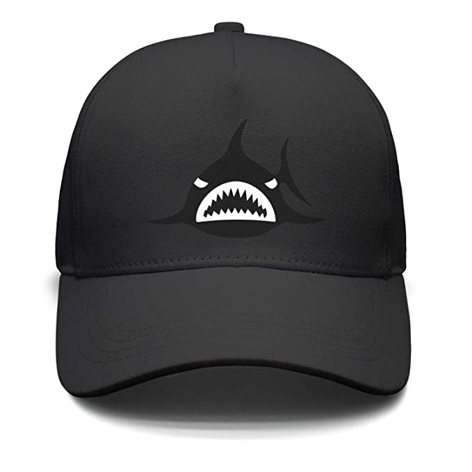 Marinas Unisex Black Sharks Logo Baseball Hats Adjustable Dad caps ... b8048b191a