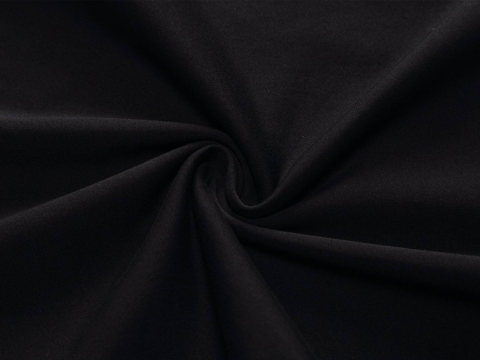 HUHOT Women Short Sleeve Round Neck Summer Casual Flared Midi Dress Large Black by HUHOT (Image #5)