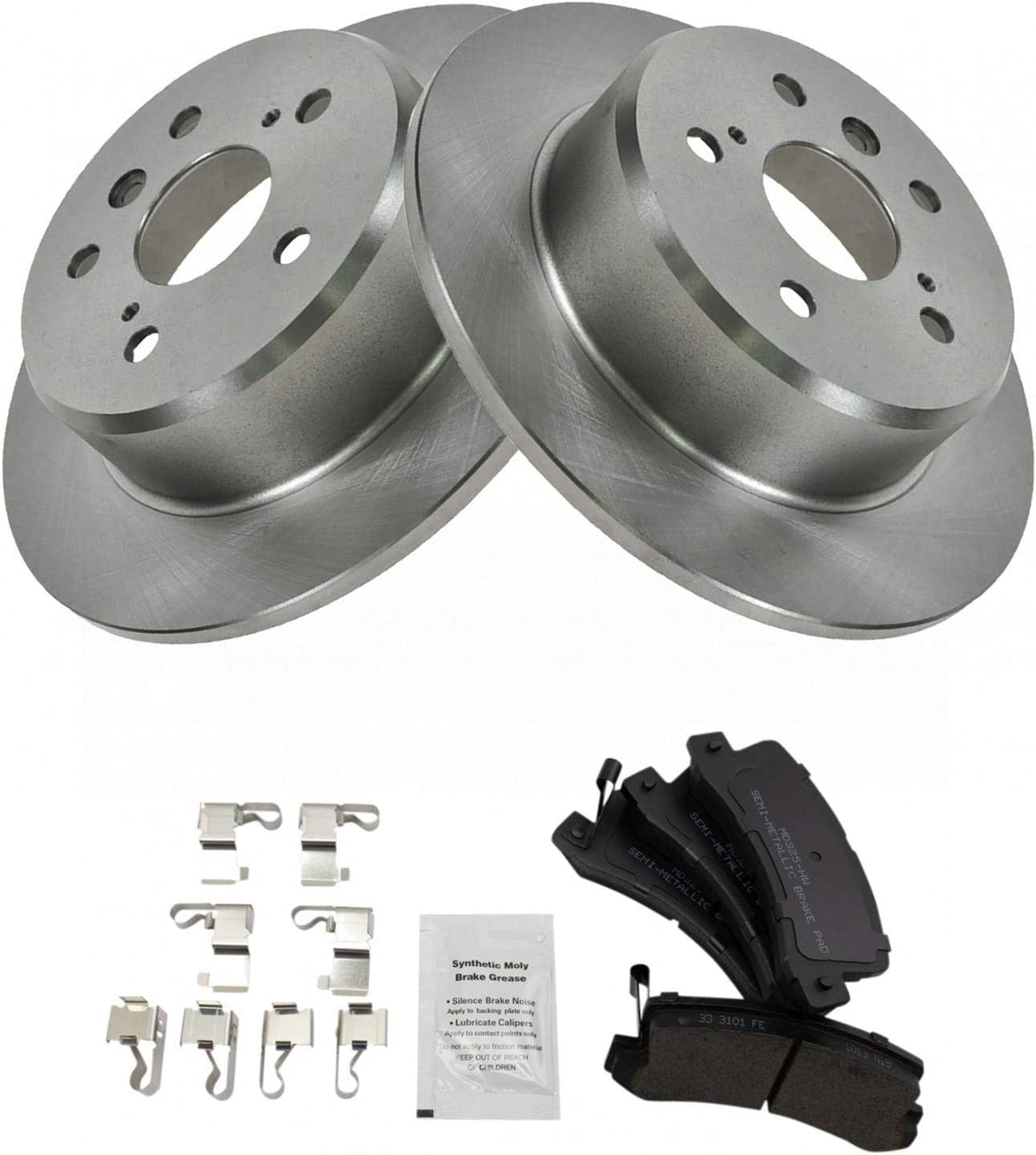 Rear Semi Metalic Brake Pads /& G-Coated Rotor Kit for 2002-2003 Lexus ES300