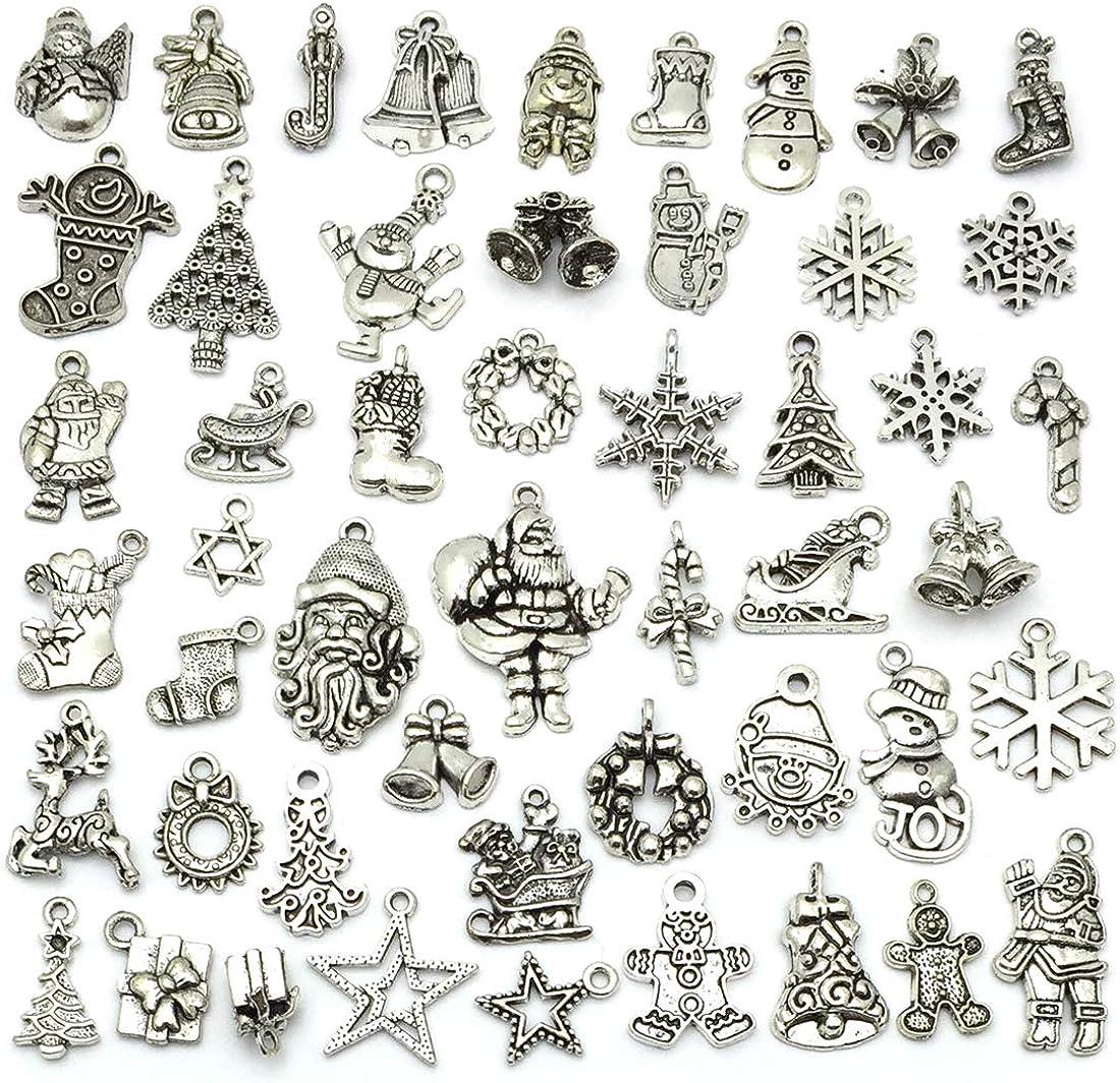 lot Christmas Eve Charm Necklace Bracelet Earrings Pendants Key DIY