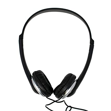 a5b1225041c On-Ear Lightweight Headphones with Volume Control & 6m Lead for PC, Laptop,