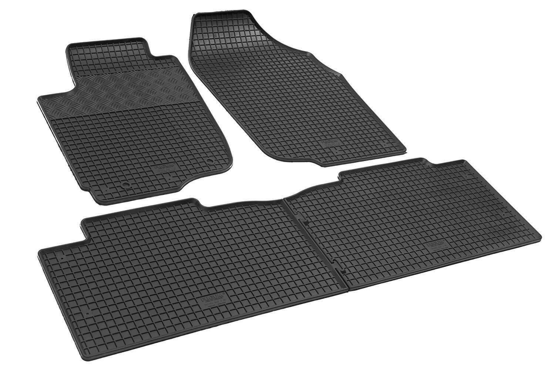 Noir ilTappetoAuto/® rigum902549/Tapis de Voiture sur Mesure en Caoutchouc v/éritable inodore