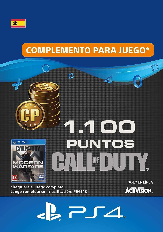 Call of Duty : Modern Warfare 1100 Points   Código de descarga PS4 - Cuenta española