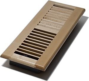 Decor Grates WML414-N 4-Inch by 14-Inch Wood Floor Register, Natural Maple