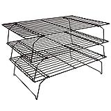 Flytt Stackable 3-Tier Cooling Rack Grid , Black , 15.7 inch x 9.8 inch
