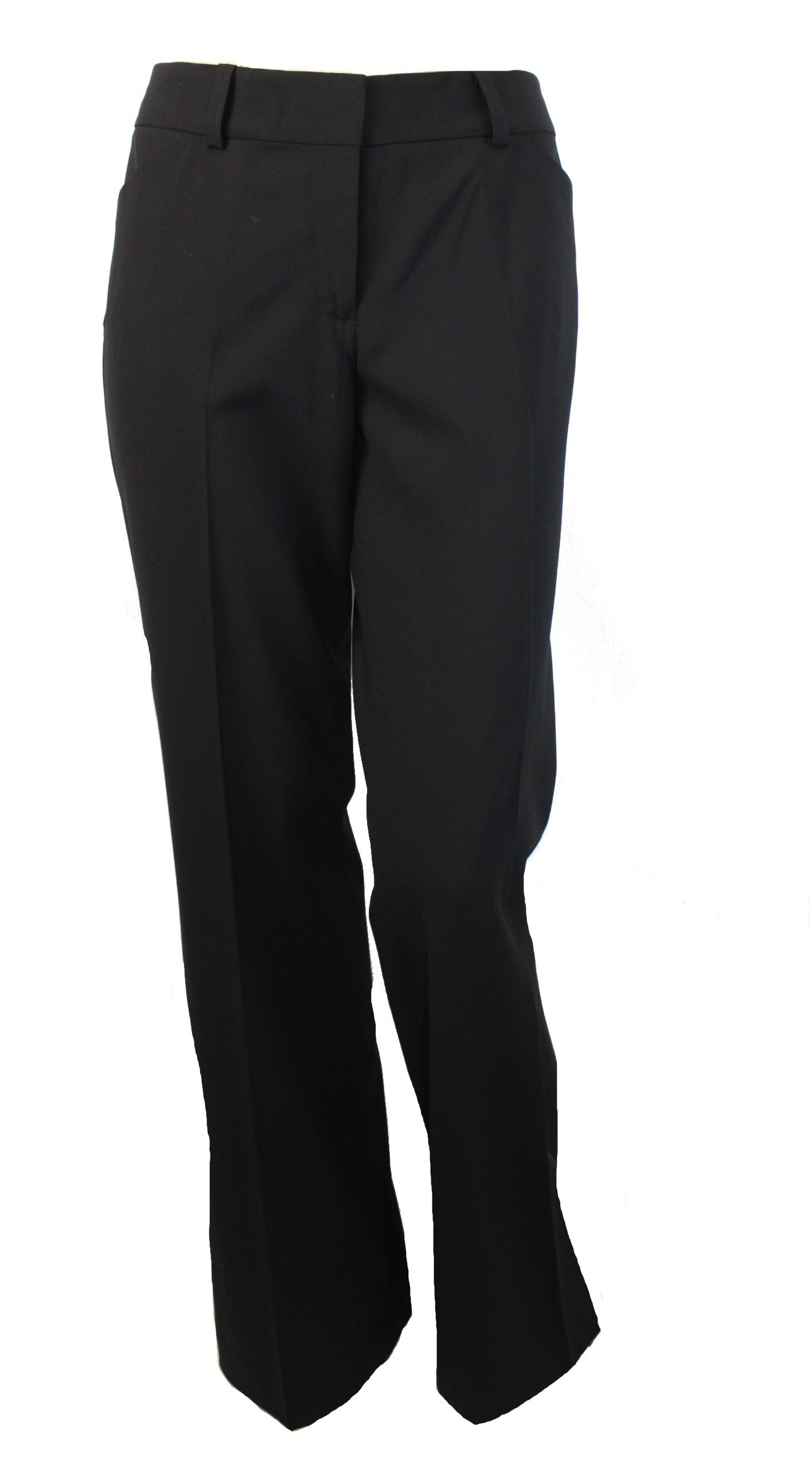 Kirkland Signature Womens Classic Wool Stretch Dress Pants Black 4 Average