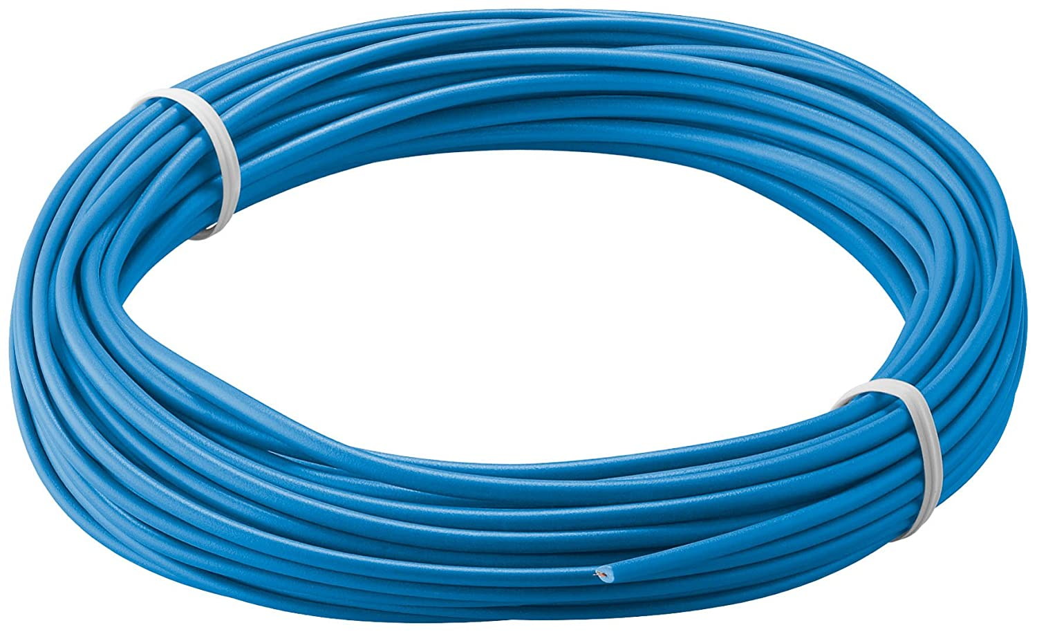 Insulated Copper Wire, Blue, 10 M (Pack of 1 Mehrdrahtig 18 x 0.1 mm ...