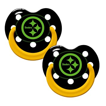 Baby Fanatic Pacifier - Glow in The Dark (2 Pack) - Pittsburgh Steelers