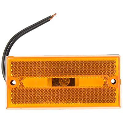 Peterson Manufacturing V132A Amber Rectangular Side Marker Light: Automotive