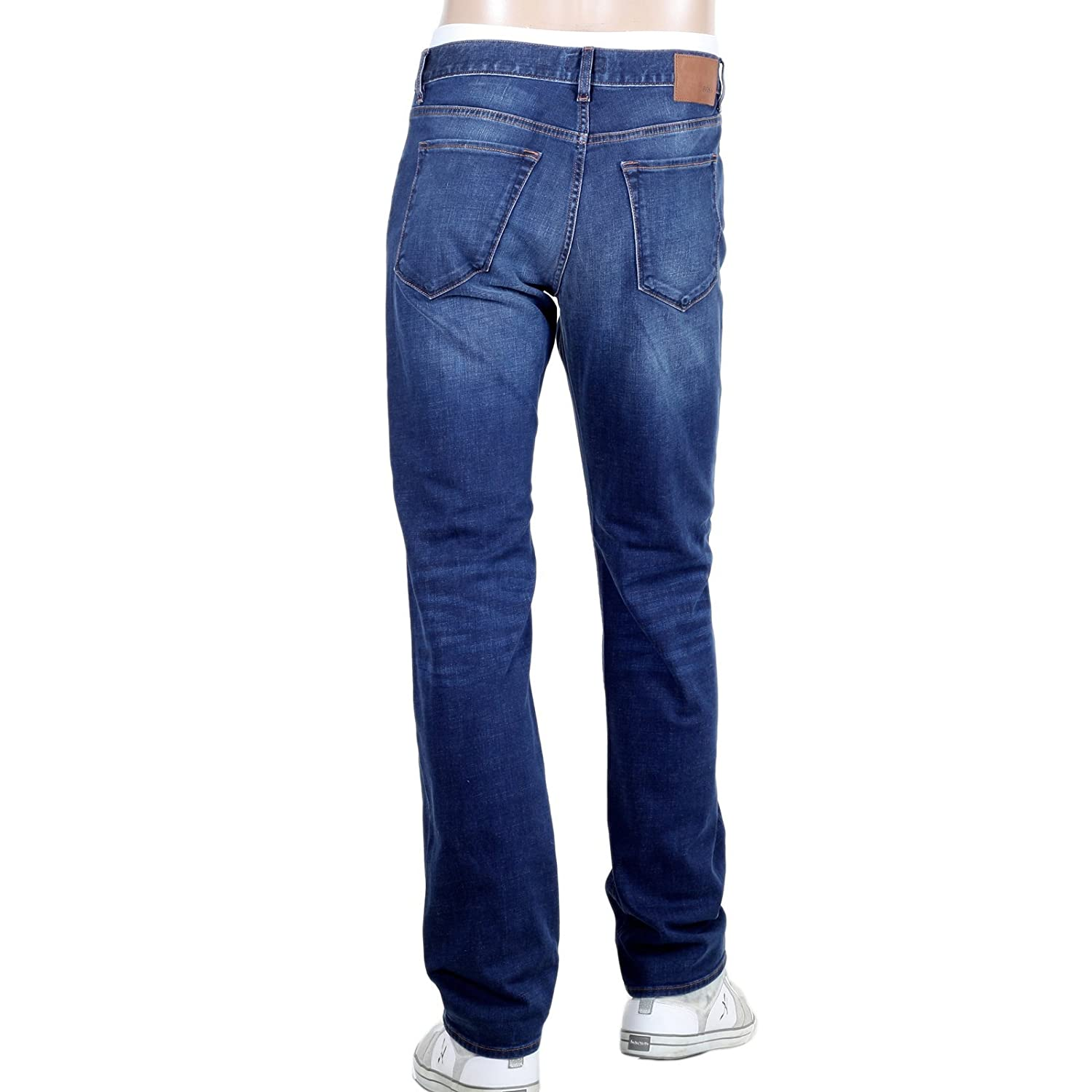 b65a226c Regular Fit Stretch Denim Hugo Boss Maine 1 Blue jeans BOSS4572:  Amazon.co.uk: Clothing