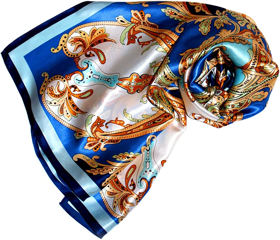 LORENZO CANA Luxus Damen Seidentuch aufw/ändig bedrucktes Tuch 100/% Seide 90 cm x 90 cm harmonische Farben Damentuch Schaltuch 89161