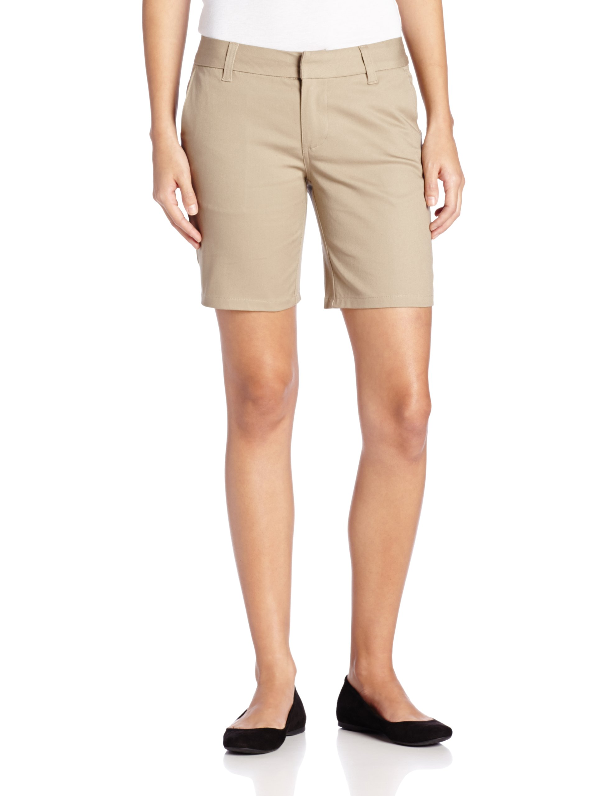 Lee Uniforms Juniors 8 Inch Classic Short, Khaki, 1 by LEE