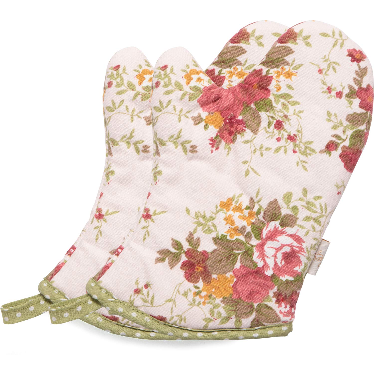 NEOVIVA Cute Oven Mitts for Kids in Play Kitchen, Little Chef Oven Mitts for Funny Easy Bake Oven, Floral Quartz Pink