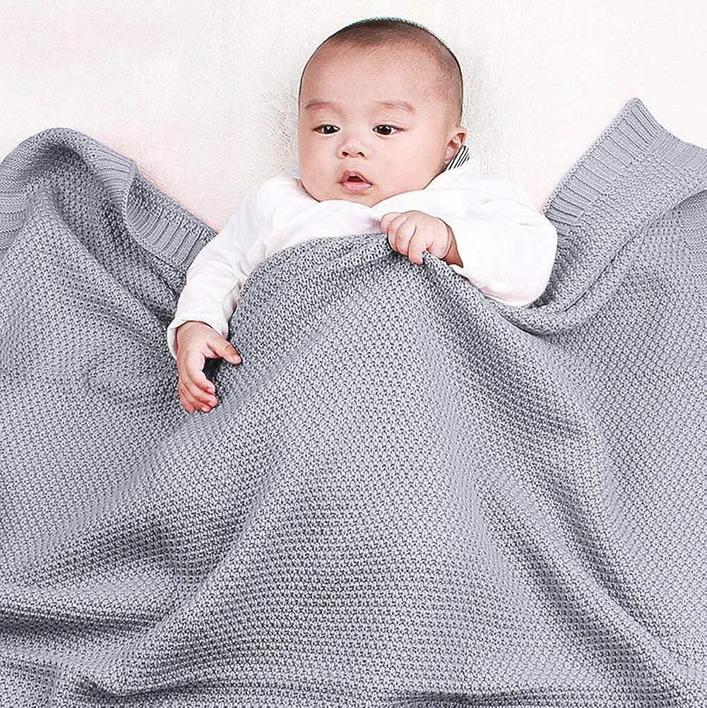 Tomwell B/éb/é Fille Gar/çon Mignon Couvertures Hiver Gigoteuses Confortable Sac de Couchage Tricoter