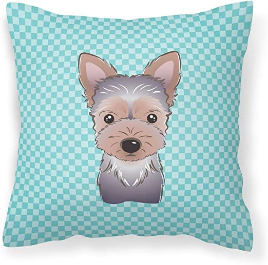 Carolines Treasures BB1852PILLOWCASE Snowman with Yorkie Puppy Fabric Standard Pillowcase Large Multicolor