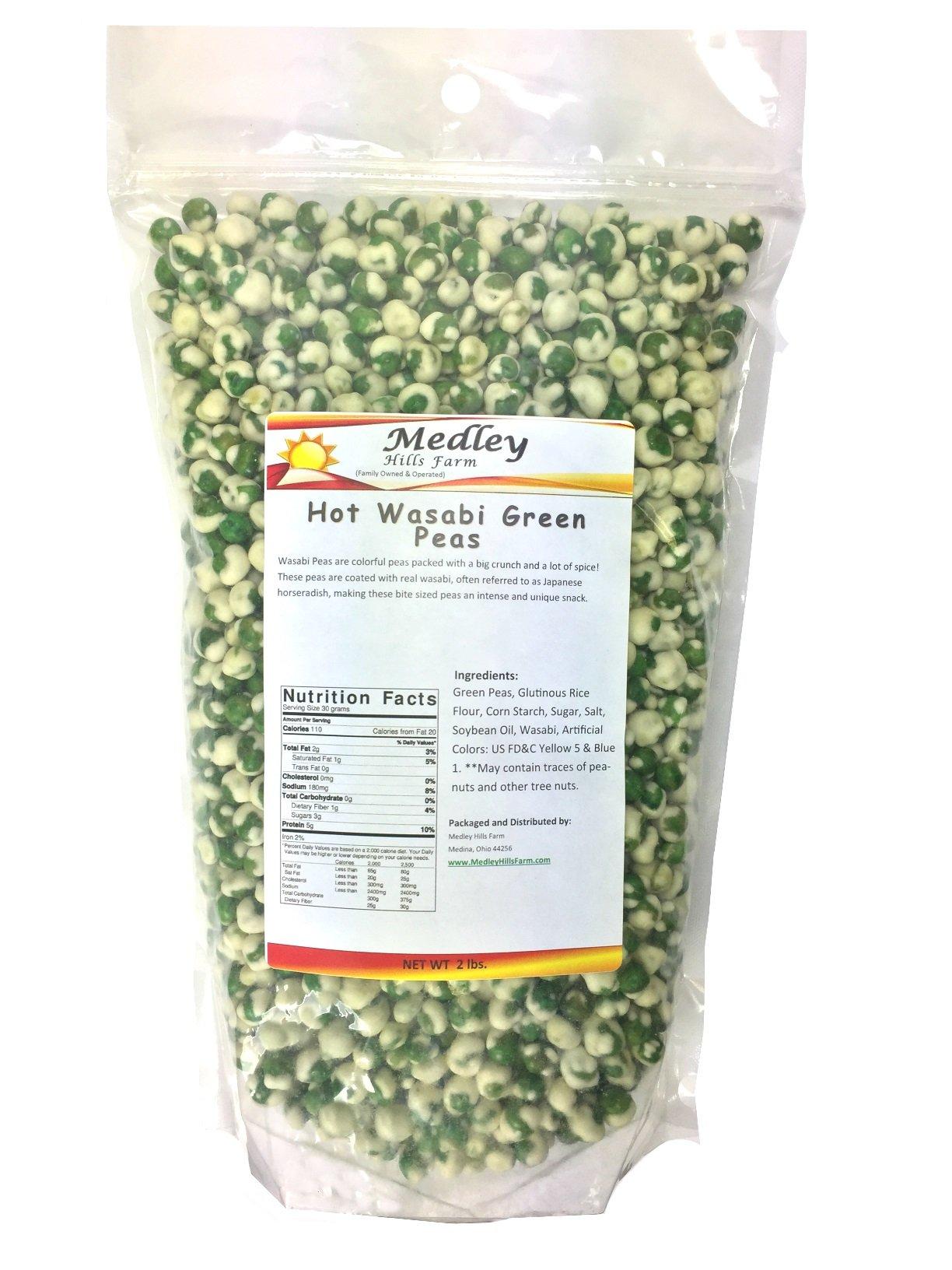 Hot Wasabi Green Peas 2 Lbs by Medley Hills Farm