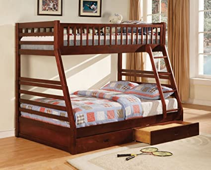 Amazon Com 247shopathome Idf Bk601ch Bunk Bed Twin Over Full