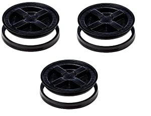 Gamma Seal Lid, Black - 3 Pack