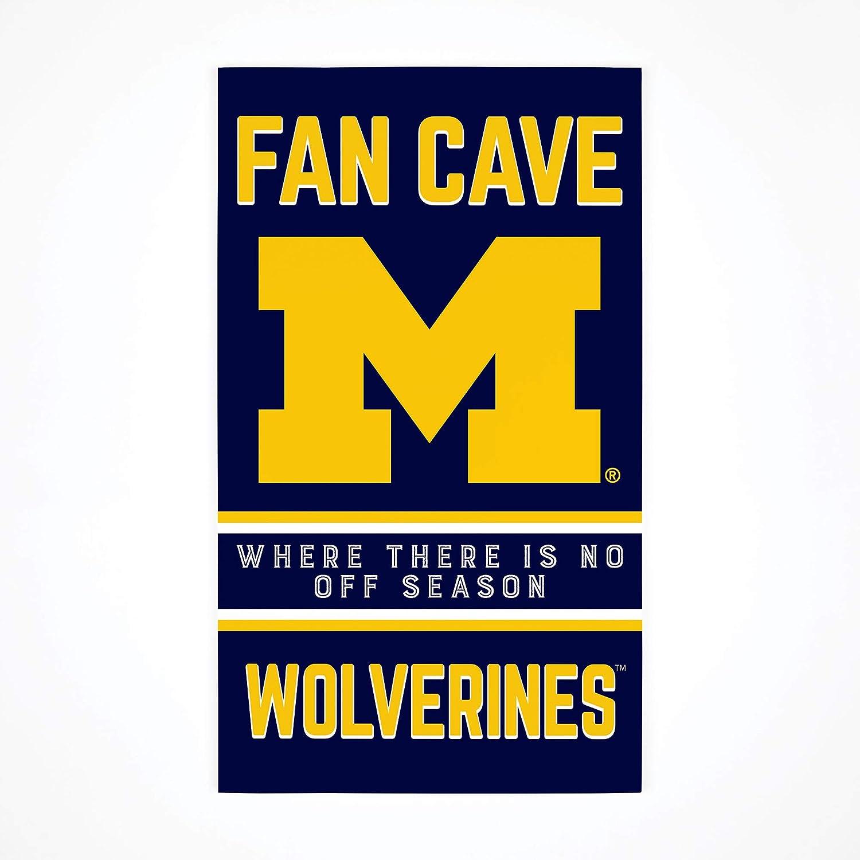 P. Graham Dunn Fan Cave University of Michigan Wolverines 24 x 14 Birch Wood Pallet Decor Sign