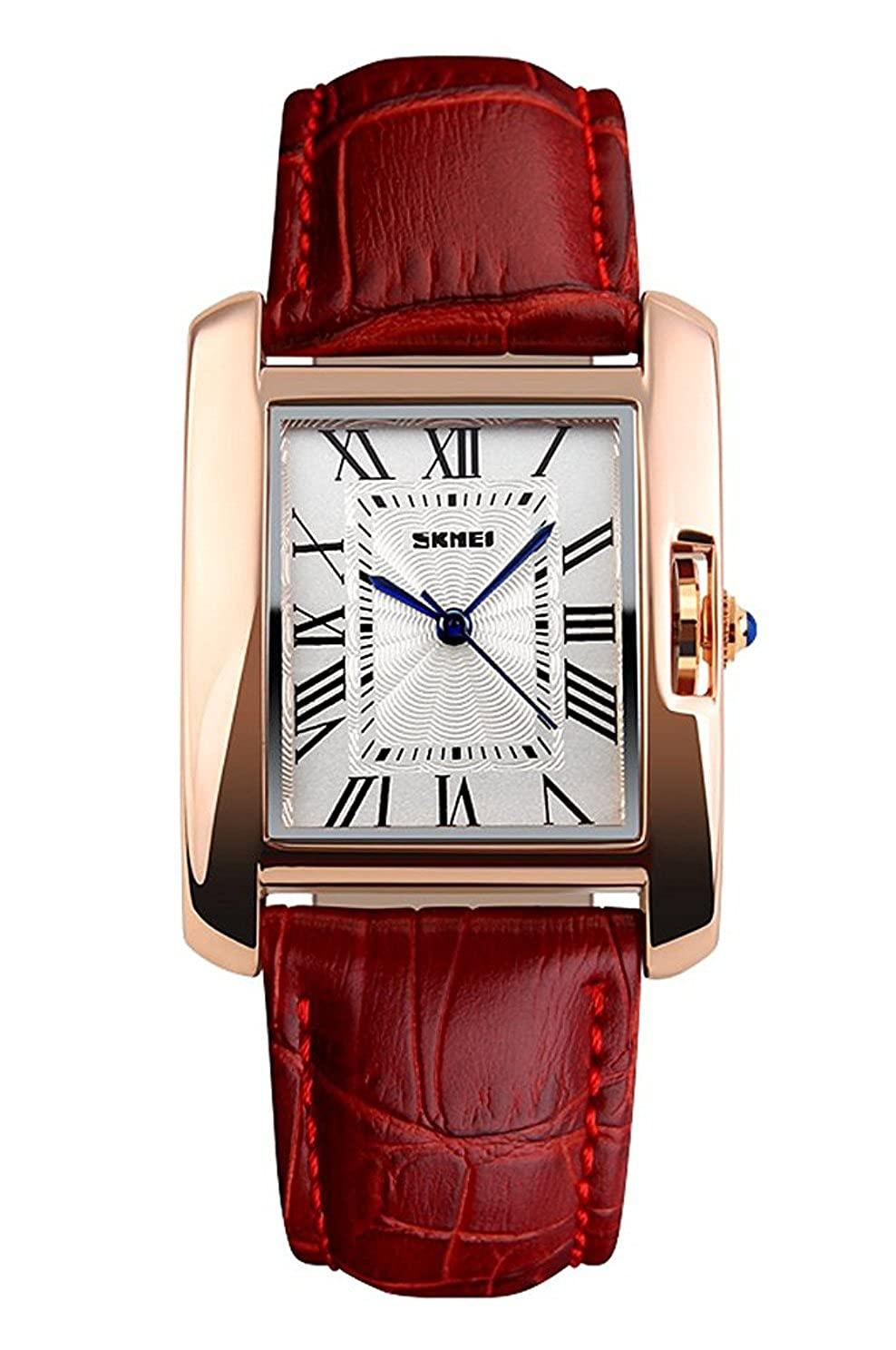161812552be Amazon.com  MaDong Women s Luxury Square Rose Gold Case Quartz Waterproof Leather  Watches MDWH2  MaDong  Watches
