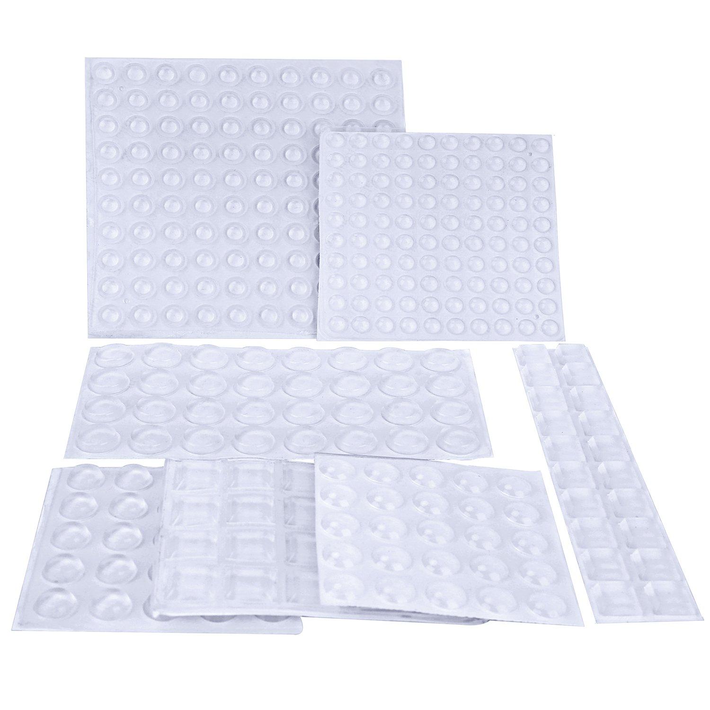 317 Piezas Topes Adhesivos Transparentes Pies De Goma Transparentes Parachoques de Almohadillas Autoadhesiva Adhesivos de Amortiguació n de Ruido Matdom