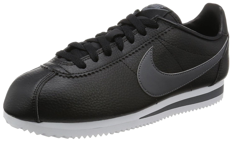 Nike Classic Cortez Nylon, Chaussures de Running Entrainement Femme, Noir (Black/White), 43 EU