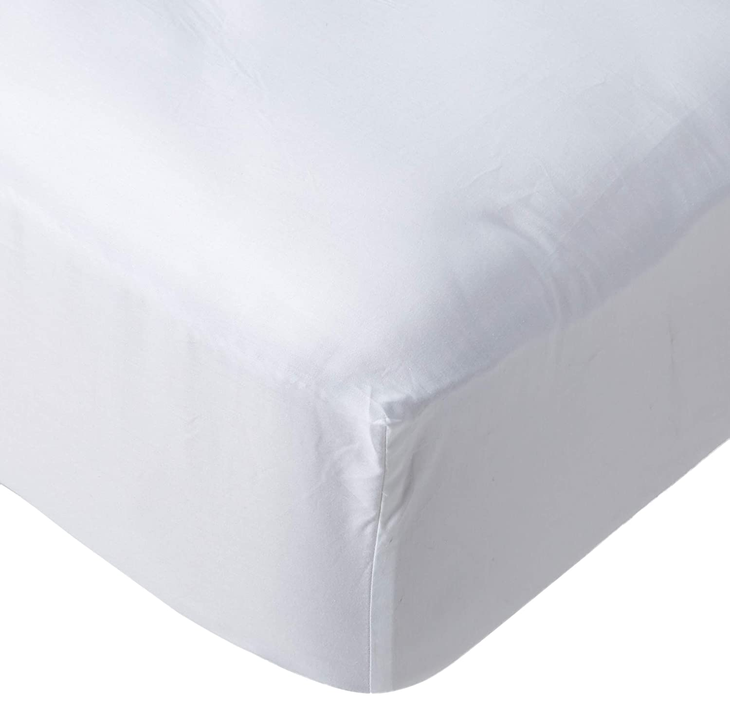 Plushy Comfort White Queen Fitted Sheet in 100 Percent Egyptian Cotton, 1000 Thread Count, 21 Inch Deep Pocket FBA_COMIN18JU020796