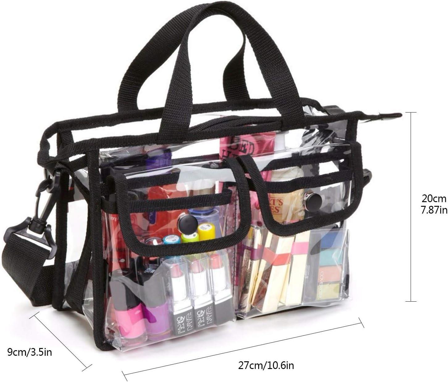 bolsa de almacenamiento de cosm/éticos EVA bolsa de viaje port/átil de maquillaje para mujeres y ni/ñas bolsas de aseo impermeables bolsa de hombro para viajes de playa Bolsa transparente