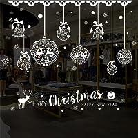 Sunnywill Autocollants Muraux Amovibles pour Vitres de Noël Decal Decor, Autocollant de Noël