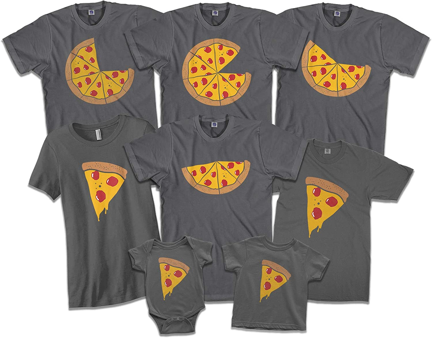 Pizza Pie & Slices | Mom Dad Baby Son Daughter Matching Family Shirts Set