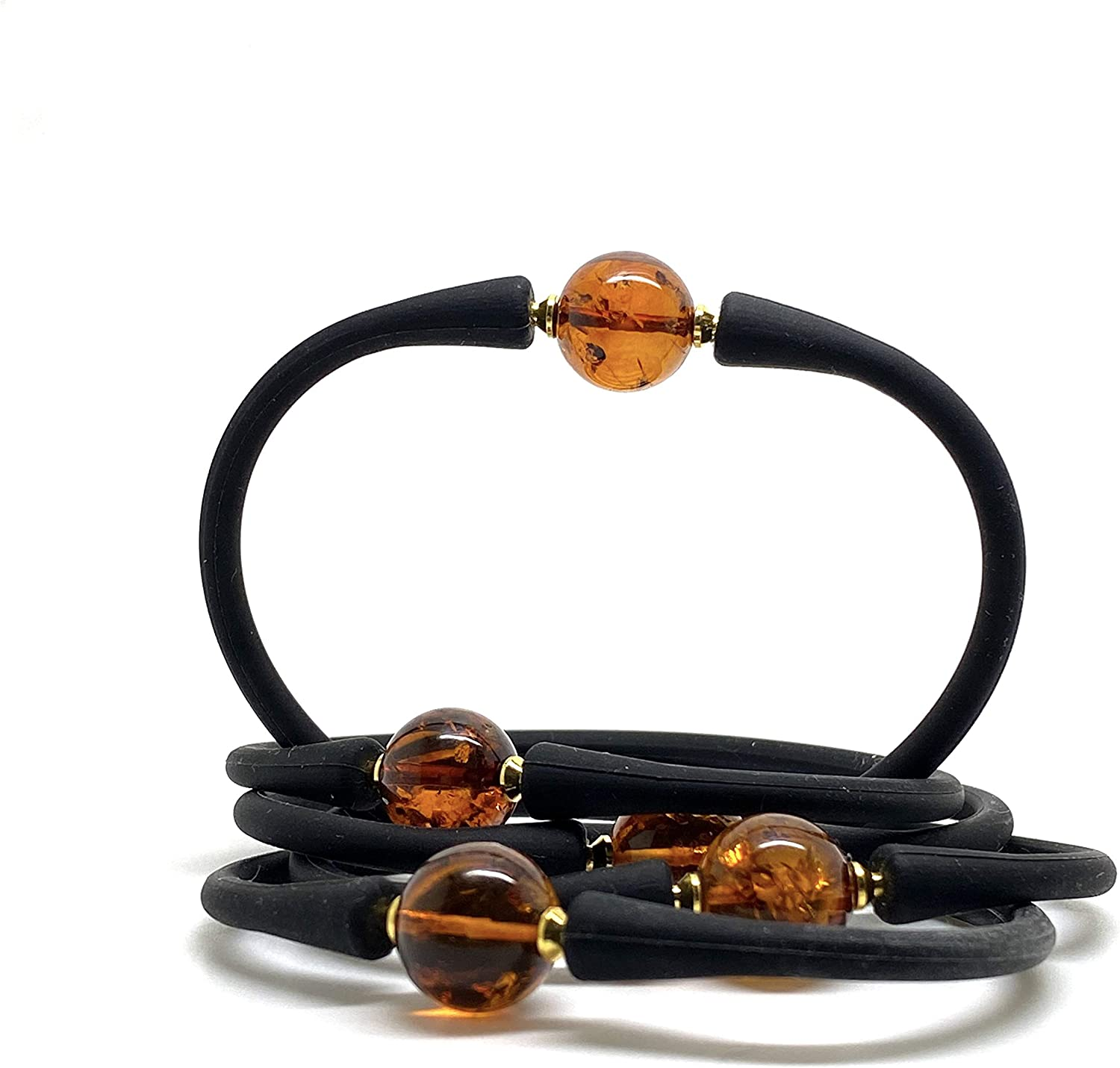 AMBER BRACELET Natural Baltic Amber Chunky Beads Gift Ladies Gift Jewelry 35,8g 11080