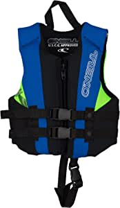 O'Neill Wetsuits Child Reactor USCG Life Vest, Black/Pacific/Dayglo, 1SZ