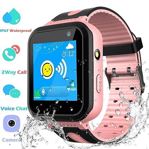 GPS Track Watch para niños - SmartWatch Phone con localizador GPS/LBS Cámara SOS Linterna