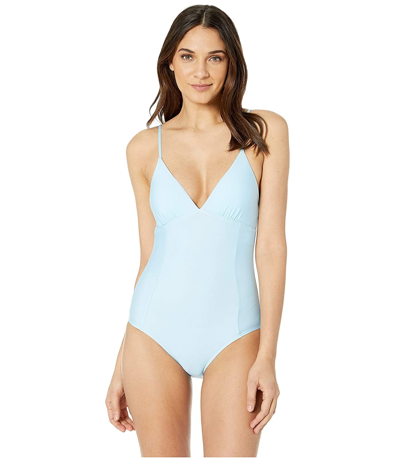 Splendid Womens Solid Removable Soft Cup One-Piece Swimsuit
