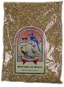 Volkman Wild Bird Feed Western No Waste Diet Food for Wild Birds 4 lbs